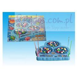 Gra rodzinna - wędkowanie, łowienie ryb - 4 wędki, 21 rybek