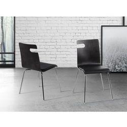 Krzeslo czarne - do jadalni - do kuchni - drewniane - BRONX