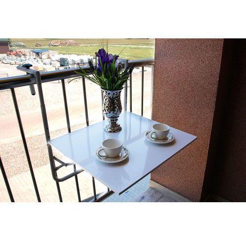 Stolik Balkonowy Zawieszany 60x53 Cm Biały Porównaj Zanim