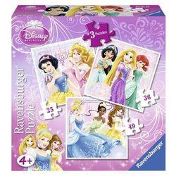 Puzzle Disney Księżniczki 3w1