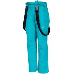 [T4Z15-SPDN005D] Spodnie narciarskie damskie SPDN005D - turkus