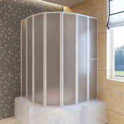 vidaXL Kabina prysznicowa ścienna, parawan na wannę (140 x 168 cm), składana Darmowa wysyłka i zwroty