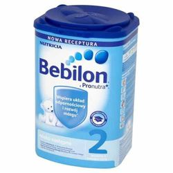 Bebilon 2 z Pronutra mleko modyfikowane dla dzieci od 6 miesiąca 800g