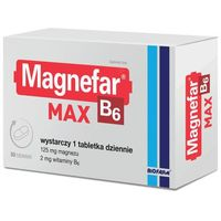 Magnefar B6 MAX 50 tabl.