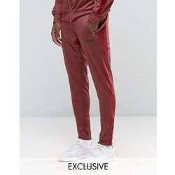 Puma Joggers With Velvet Trim In Tapered Fit Exclusive To ASOS - Red