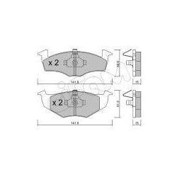 CIFAM Zestaw klocków hamulcowych, hamulce tarczowe - 822-206-2
