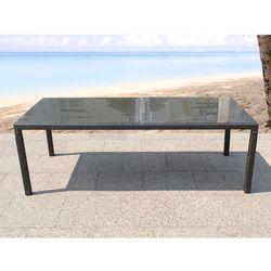 Meble ogrodowe rattan ogród patio weranda stół 160cm ITALY