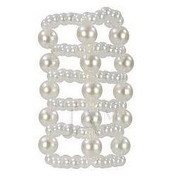 Calexotics Basic Essentials Pearl Stroker Beads Large Clear Pierścień na penisa z wypustkami stymulującymi przezroczysty