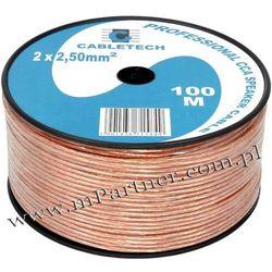 Przewód głośnikowy kabel CCA 2x2,5 mm 100m