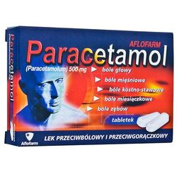 Paracetamol Aflofarm tabl. 0,5 g 20 tabl. (2 blist.po 10 szt.)