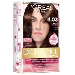 Loreal Paris Excellence Creme Farba do włosów Świetlisty Ciemny Brąz nr 4.03