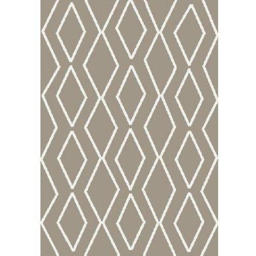 Dywan Shaggy Eco Komfort Mila 120x170 Beż Biały Romby Krata