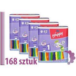 Bella Happy 1 Newborn Pieluszki 4 x 42 sztuki