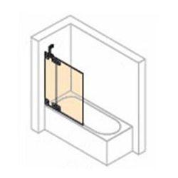 Parawan nawannowy 2- częściowy ze stałym segmentem Huppe Studio Berlin prawy , chrom mat, szkło przeźroczyste BR0439.E05.321