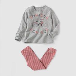 Piżama z jerseyu z nadrukiem roweru 2-12 lat