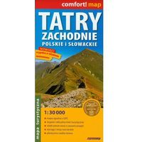 Tatry Zachodnie Słowackie i Polskie mapa turystyczna laminowana 1:30 000 (opr. miękka)