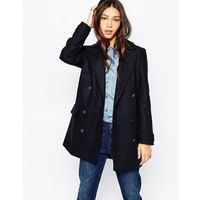 Pepe Jeans Baltimore Double Breasted Coat - Navy