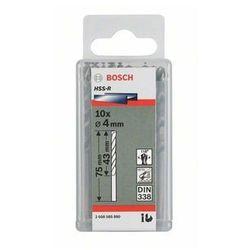 Wiertło kręte do metalu Bosch 2607018413, Średnica wiercenia: 3.5 mm, Średnica wiertła: 3.5 mm, HSS, Uchwyt prosty, DIN 338, 10 szt.