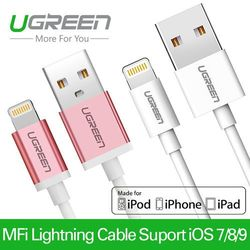 Ugreen MFi certified 8 pin cable lightning to usb cable data sync charger cable for iPhone 6 6s 5s iPad 4 mini 2 3 Air 2 iOS 8 9