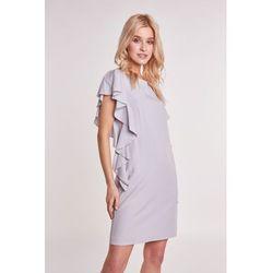 c1e0799682 suknie sukienki sukienka na jeden guzik szara (od Szara sukienka z ...