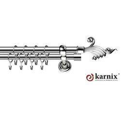 Karnisz Metalowy Rzymski podwójny 25/25mm Fantazja INOX