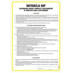 Instrukcja BHP zachowania higieny osobistej pracowników w punktach małej gastronomii