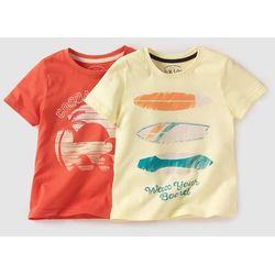 T-shirt z nadrukiem 3-12 lat (2 szt.)