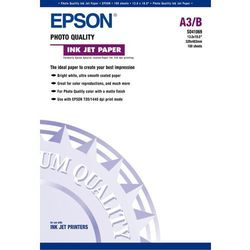 Epson C13S041069 Photo Quality Ink Jet Paper, DIN A3+, 102 g/m2, 100 arkuszy