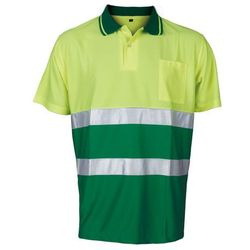 Koszulka Polo ostrzegawcza Contrast Vizwell VWPS13YG (żółto-zielone)