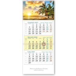 Kalendarz 2016 Trójdzielny Palmy