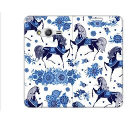 Flex Book Fantastic - Samsung Galaxy Trend 2 Lite - pokrowiec na telefon - niebieskie konie