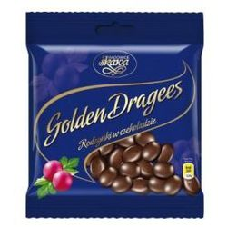Draże Golden Dragees rodzynki w czekoladzie 100 g Skawa