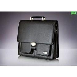 Skórzana męska aktówka, torba na laptop Verso Business Classique