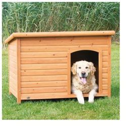 Naturalna buda dla psa z płaskim dachem Kolor:Naturalny, Rozmiar:L
