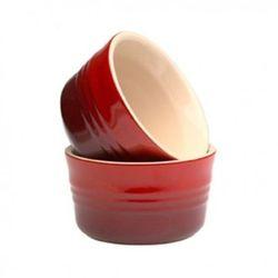 Miseczki emaliowane 2 szt 230 ml czerwone - LE CREUSET