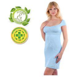 Babyono - Koszulka nocna dla matek karmiących - błękitna - L