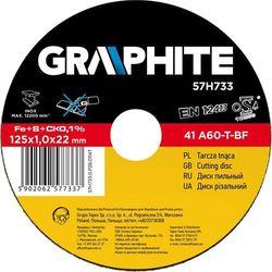 Tarcza do cięcia GRAPHITE 57H730 115 x 1.0 x 22.2 mm do metalu Inox