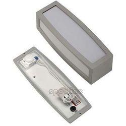 Zewnętrzna LAMPA ścienna MERIDIAN BOX 230084 Spotline kinkiet OPRAWA do ogrodu IP54 outdoor z czujnikiem ruchu srebrnoszary