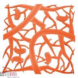Panel dekoracyjny Koziol Pi:P ptaszki pomarańczowy 4 szt. KZ-2042509