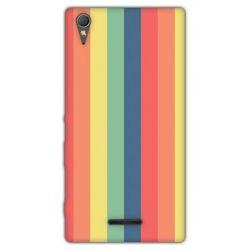 Fantastic Case - Sony Xperia T3 - etui na telefon - tęczowe paski