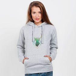 Bluza z kapturem damska: Jeleń
