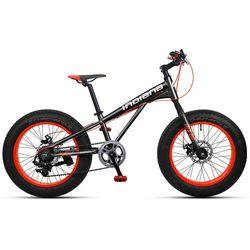 """Rower INDIANA Fat Bike 20"""" Czarno-Pomarańczowy + DARMOWY TRANSPORT!"""