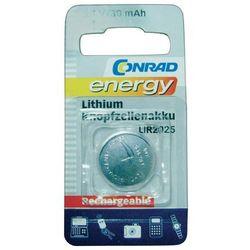 Akumulator guzikowy, litowy Conrad Energy LIR2025, 3,6V, 30 mAh
