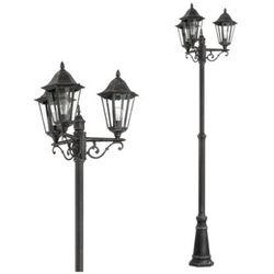 Stojąca LAMPA zewnętrzna NAVEDO 93465 Eglo klasyczna LATARNIA ogrodowa IP44 outdoor patyna czarny