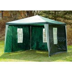Rovens.pl Pawilon ogrodowy do ogrodu - Namiot handlowy 3x3 m PE - 4 ścianki - Kolor zielony