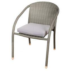 Krzesło ogrodowe FLORALAND z poduszką popielaty JLC555