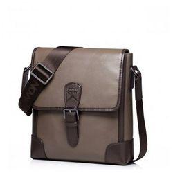 Męska podróżna torba na ramię Khaki - Sammons