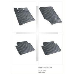 Dywaniki gumowe czarne z kompletem stoperów - Audi Q7 od 2006