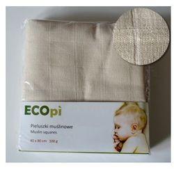ECOpi Pieluszki tetrowe (muślinowe) z bawełny niebielonej 100 g. 4-pak
