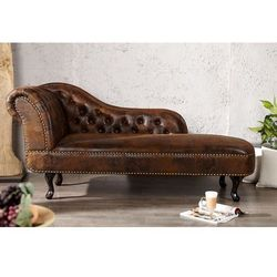 Szezlong Chester vintage - drewno ||Vintage